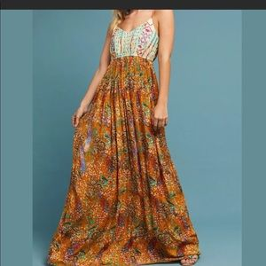 Anthro Boho maxi dress